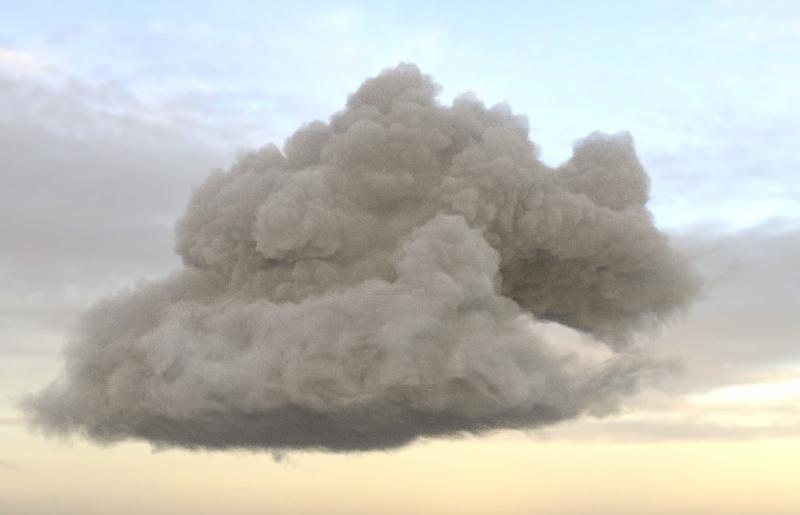 만트라 렌더 구름