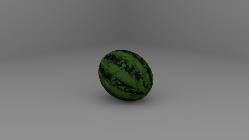 수박 패턴의 watermelon shader를 만들어 적용해봤습니다.